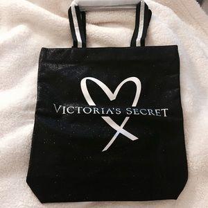 Victoria's Secret black Shiny Tote - New